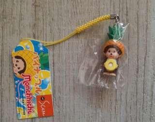 Monchhichi 電話繩 吊飾 沖繩菠蘿 Okinawa Limited