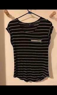 Portman's stripe top