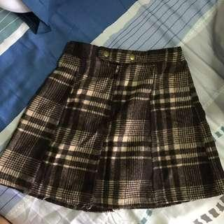 [3 for $20 💕] Cute Brown Checkered Short Skirt