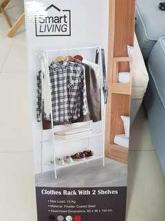 🚚 Clothes rack with 2 shelves