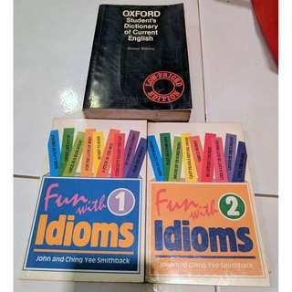 Oxford Dictionary, Idioms Book Children Student Reference Book