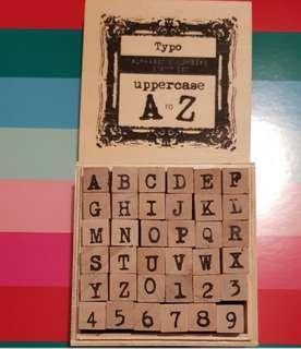 Alphabet & numbers stamp set