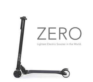 ZERO carbon fiber Electric Scooter (with free stand)