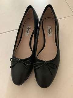 Clarks Eliberry Isla Black Leather Shoes