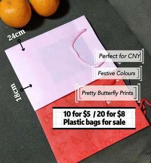 Festive plastic bags for sale