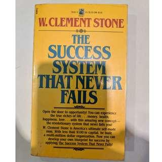 Self-help motivational book - The Success System that Never Fails - W.Clement Stone