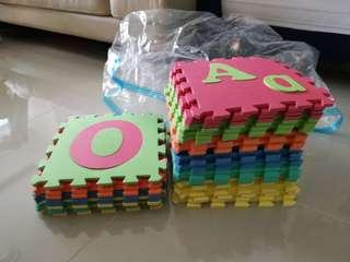 Baby playmat Alphabet and number learning 3d floor tiles