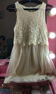 Dress putih - dress kondangan - dress pesta - mini dress