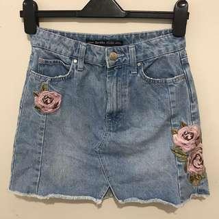 Bershka Embroidered Skirt