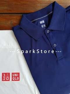 Uniqlo Kaos Polo Shirt Dry-EX Navy