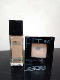 Take all Maybelline fit me foundation & Compact powder