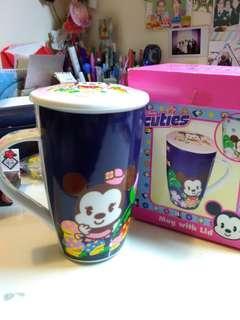 全新Disney 禮品杯連蓋連盒 送人自用都可以