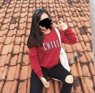 sweater chill merah