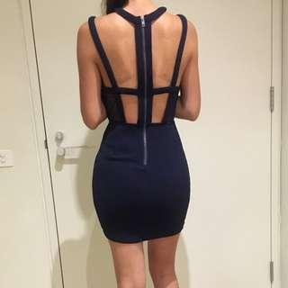 Navy blue bodycon dress