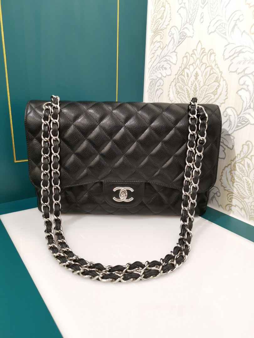 7a0c053f9b71 18 Chanel Jumbo Classic Double Flap Black with Shw, Luxury, Bags ...