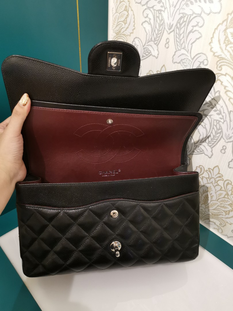 9f10d3e37224 #18 Chanel Jumbo Classic Double Flap Black with Shw, Luxury, Bags &  Wallets, Handbags on Carousell