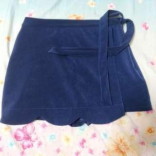 brand new navy blue skorts (: