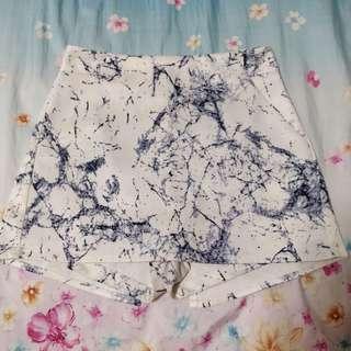 brand new marble skorts (: