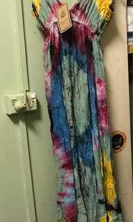 Multicoloured Dye Maxi Dress
