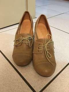 Grace gift 學院風高跟鞋(24.5cm)
