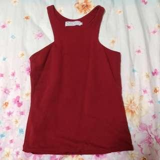 brand new the tinsel rack maroon red top (: