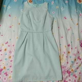 brand new ohvola sky blue dress (: