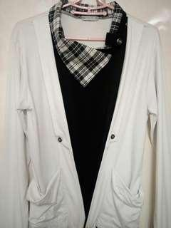 Black and white top with scarve