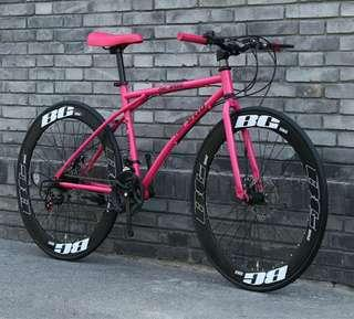 New year promotion !! Classy road bike bicycle fixie mtb hot pink 26 inch