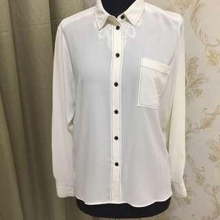 Marks and Spencer white top
