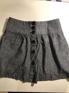 Grey Buttoned Skirt