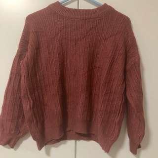 棗紅色冷衫