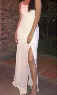 Strapped bandeau maxi dress