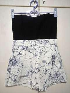 Marble Romper with pockets