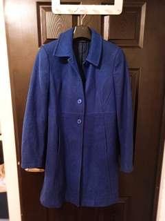 🚚 降❤Sisley 閃電藍質感羊毛大衣/法國購入