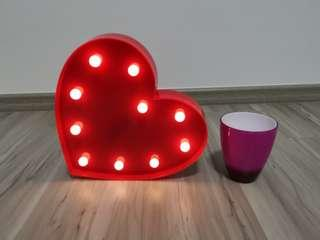 Heart shape decor light