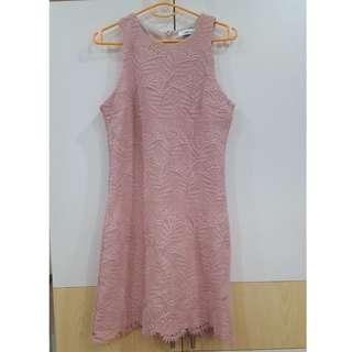 Pink lace dress from TEMT