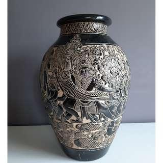 Vintage Hand Carved Sarawak Vase