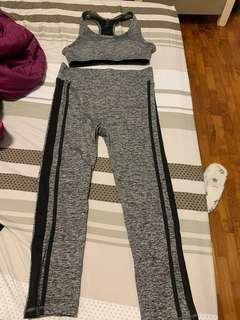 gym pants and top set