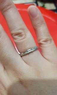 Diamond Half Eternity Ring in Authentic Platinum