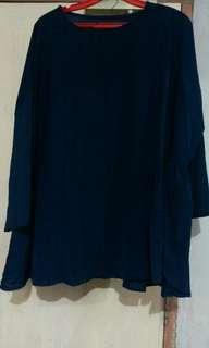 Navy blue 3/4 sleeve top