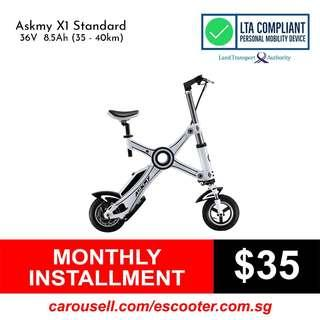 Askmy 36V 8.5Ah (35-40km) Electric Scooter (LTA Compliant & Non-UL2272 Compliant Escooter. Limited stocks!!)!