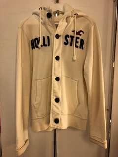 🚚 Hollister 100%正品男款米白色連帽外套