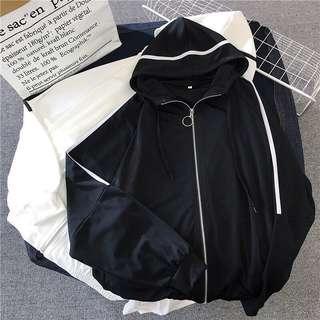 🚚 🍑: ulzzang zip jacket