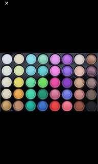 40 colours eyeshadow palette
