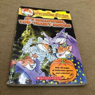 Geronimo Stilton it's Halloween you Fraidy mouse!