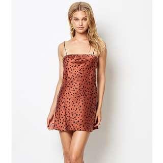 RENT Bec & Bridge Wild cat mini dress