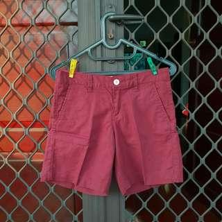 [FREE ONG] Giordano shorts celana pendek maroon