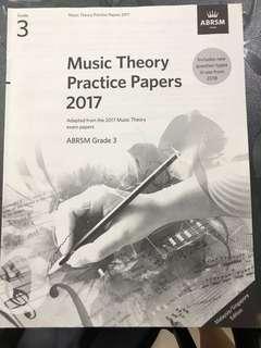 Abram Grade 3 theory paper