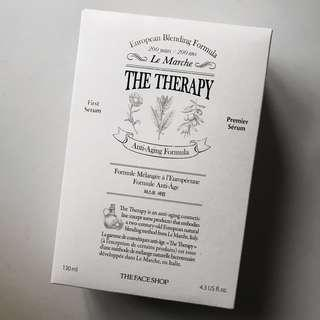 le marche the therapy first serum anti-aging formula + green tea cotton pads in 30s the face shop tfs