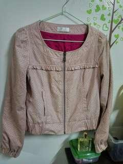 專櫃NR粉紅外套
